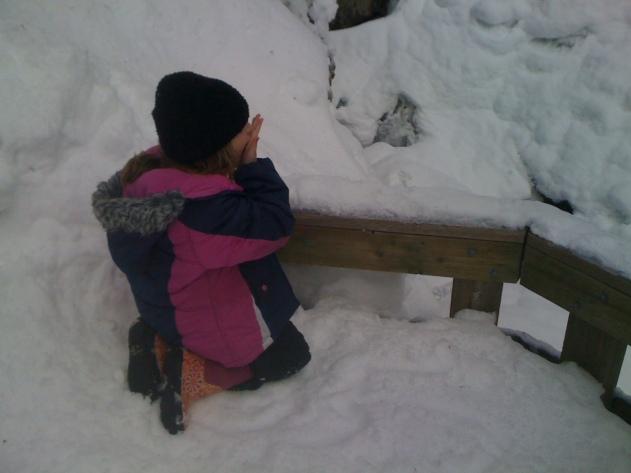Holden Eating Snow